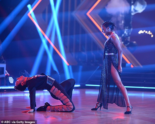 Tango time:Olympic figure skater Johnny Weir, 36, danced a tango to Lady Gaga's Poker Face, a song he'd also skated to as he loved Gaga 'like a whale loves fish'