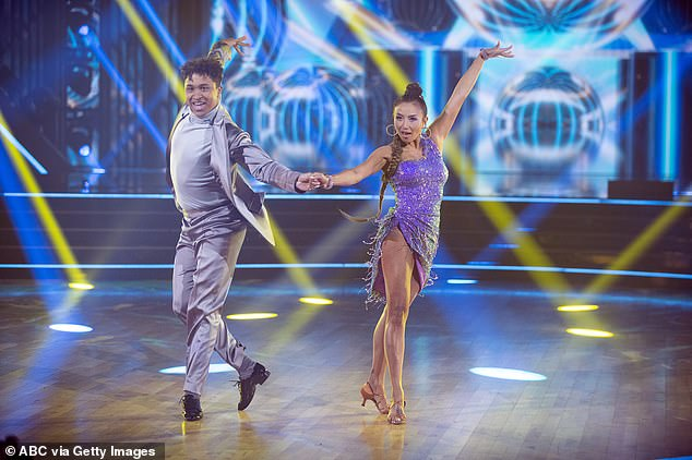 Mixed reviews:Talk show host Jeannie Mai, 41, got mixed reviews for her cha cha, which earned her and partner Brandon Armstrong, 26, just 18 points