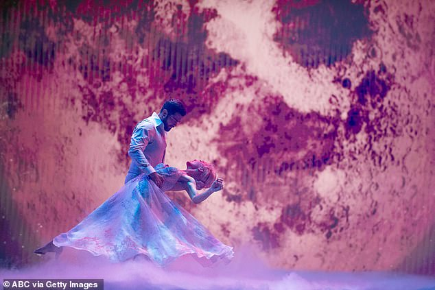 Passionate performance:Jesse Metcalfe, 41, said he had 'passion' with his partner Sharna Burgess, 35, and it showed in their foxtrot to Fleetwood Mac's Dreams, which scored 20 points