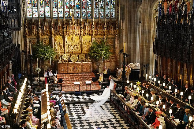 Bishop Michael Curry claims to have had many more conversations about life and love since the royal wedding at St George's Chapel (pictured)