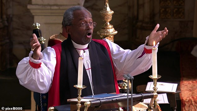 Bishop Michael Curry (pictured) said his book is aimed at sharing a lesson in the possibility to live a life based in an unselfish love