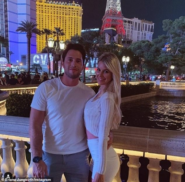 Shock Las Vegas proposal: Briana reportedly became engaged to her on-off love Nick, in September and dubbed him her 'soulmate' in a touching social media post