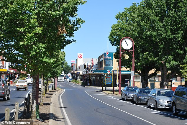 Home to 12,000 residents, the country town of Colac was hit with a second coronavirus outbreak earlier this month. Pictured is the main street