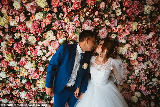 Sarah Allard, of editor of Hitched, also recommends adding a statement visual piece in the room, such as a floral installation that fills the room in height and width or a large central table for all 15 guests to sit at as the focal point of the room. Picture: Stock