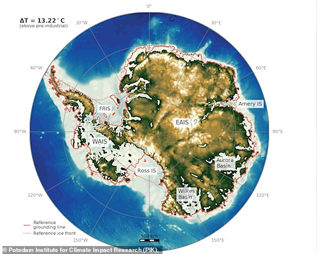 This is what Antarctica could look like if temperatures rise by a global average of 23.8F