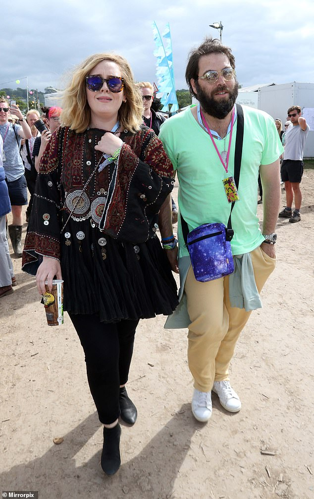 Lost love: The hitmaker and rapper Hello were first linked in October last year after it emerged that Adele's marriage to Simon Konecki had broken down (pictured in 2015)