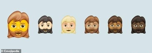 Emoji 13.1 will include a bearded lady avatar, with an option for a gender-neutral individual with a beard. Currently only a male-presenting face with a beard is available