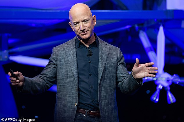 Jeff Bezos (pictured) founded Blue Origin in 2000, with the hope of starting afor space tourism business that would bring up to six passengers to the edge of space and float in orbit for 10 minutes.