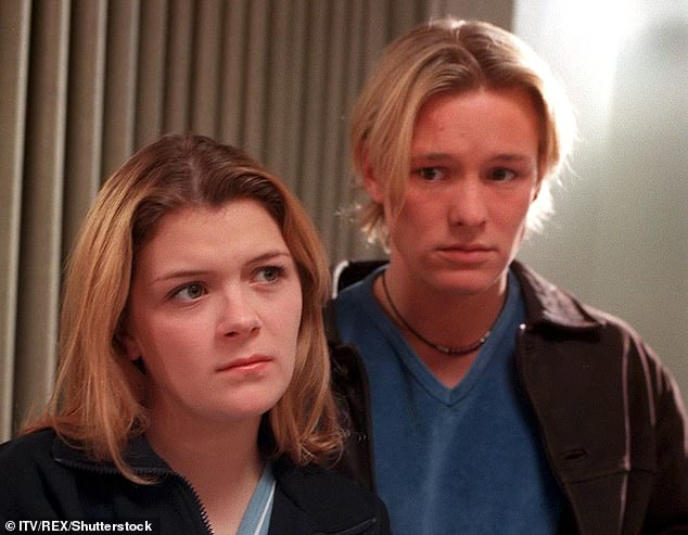 At Stockport Magistrates Court, Rickitt admitted to drinking and driving and was banned from driving for 17 months.  Pictured with former co-star Leanne Battersby in Coronation Street in 1998