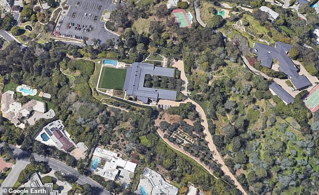 Home, sweet home: This sprawling mansion in Beverly Hills was purchased last month by WhatsApp co-founder Jan Koum for a whopping $125million