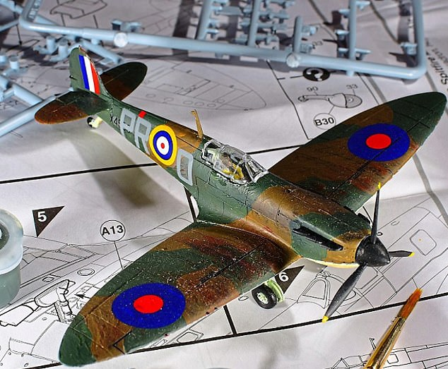 Flying high: Among the Hornby toys that have been popular with consumers include the Airfix Spitfire model, which ran out at one point last year due to considerable demand