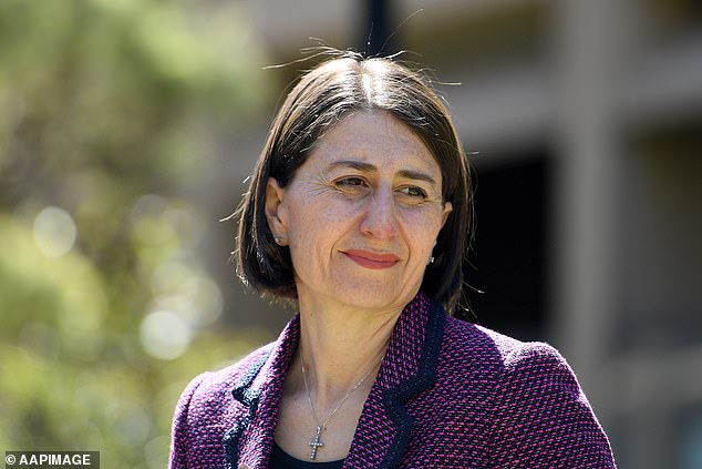 Gladys Berejiklian said the fireworks represent 2021 being a sign of home amid the coronavirus pandemic