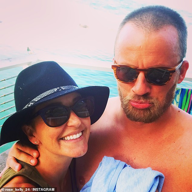 Rosie Jacobs was in a tumultuous relationship with former AFL footballer Matt Shir after her split with TV weatherman husband Steve Jacobs in 2018. Shir walked out on Jacobs in January and the next night when he came to her apartment she called police. The couple is pictured