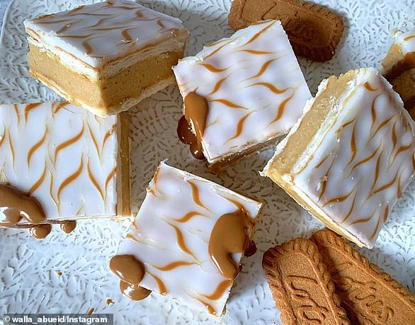 Cream, lattice biscuits, Cottee's instant pudding and a jar of Biscoff spread are all that's needed to make these 'heavenly' vanilla slices