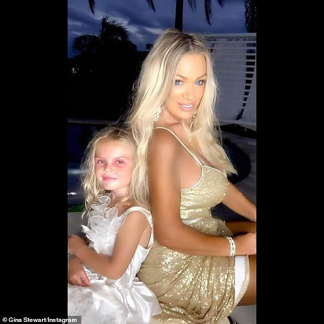 'I've been able to afford a $1.3 million home for myself and my daughter, I drive a Mercedes and I own two jet skis,' Gina told Daily Mail Australia last year. (Pictured with daughter Summer)