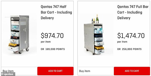 Within hours of the sale going live, all 1,000 drink trolleys were completely sold out after nostalgic flyers wanted a piece of aviation history