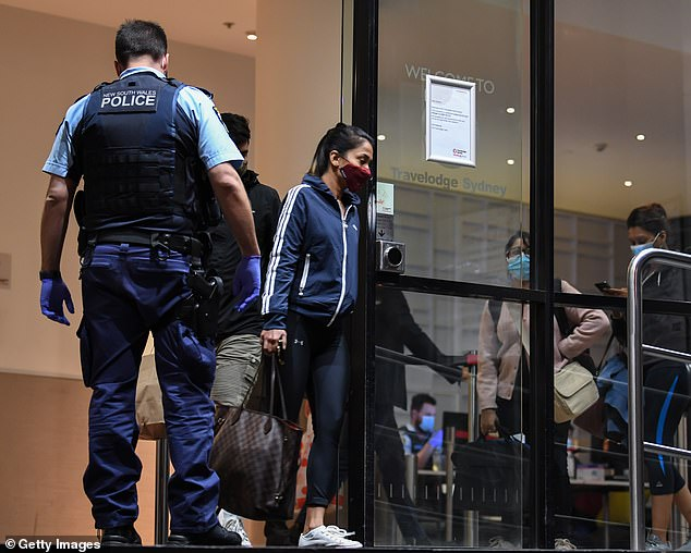 Department of Prime Minister and Cabinet officials said hotel quarantine capability - not the availability of flights - was stopping more people returning (pictured, hotel quarantine in Sydney in August)