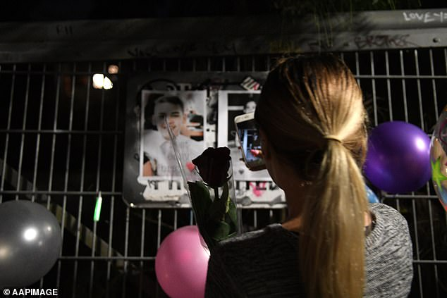 Family and friends of Brayden Dillon hold a memorial on what would have been Brayden's 16th birthday, at East Hills, south west of Sydney, Wednesday, July 12, 2017