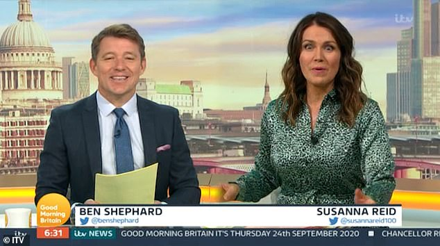 Oh my!Susanna Reid was left looking wholly less incredible on Thursday morning when a trick of the camera left her looking slightly larger than usual