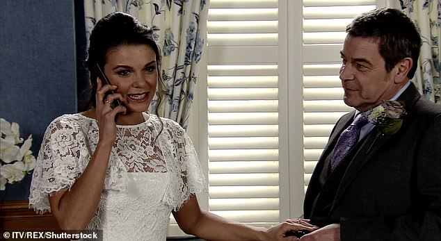 Her role:Faye left Coronation Street in 2019 after four years of playing Kate Connor on the cobbles (pictured in soap still)