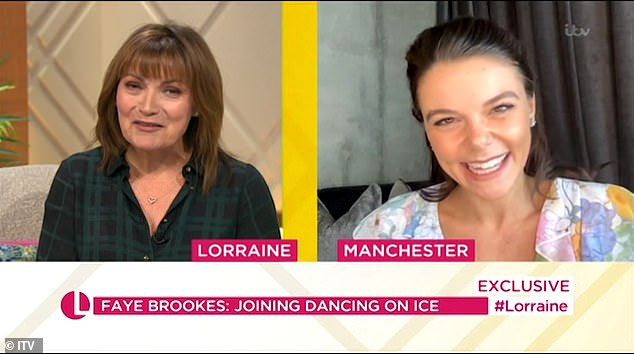 Exciting:Appearing on Thursday's episode of Lorraine to announce the news, Faye said: 'I'm so excited! We had to review the basic, we were filmed too.'