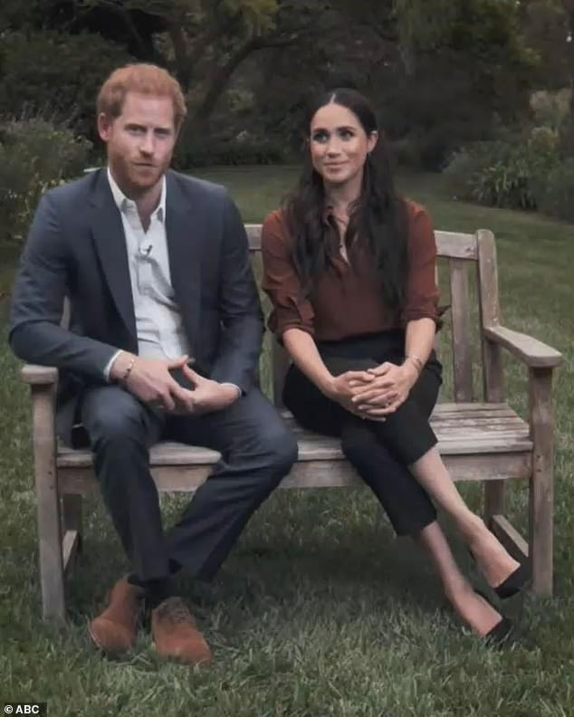 Meanwhile Judi also pointed to a point when Prince Harry played with his wedding ring, indicating he is relying on Meghan for support and comfort