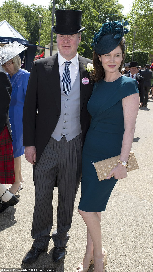 Earl Spencer and his wife Karen Gordon enjoying the third day of Royal Ascot on 18 June 2015 (pictured)