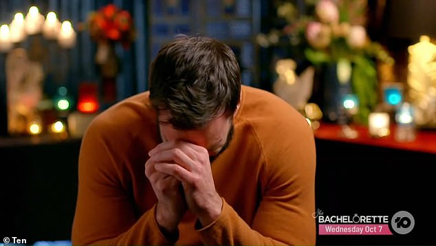 Faking it: Some fanslabelled his tears as 'fake', after giving false hope to both Bella and Irena in the lead up to the show's climatic final rose ceremony