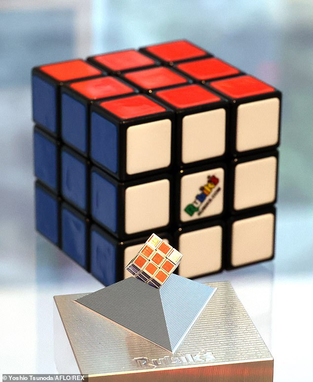 World's smallest Rubik's Cube has gone on sale in Japan to mark the 40th anniversary of the original 3D puzzle