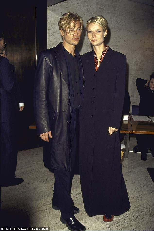 The dynamic duo before they split: Actors Brad Pitt and Paltrow at film premiere of his The Devil's Own in 1997