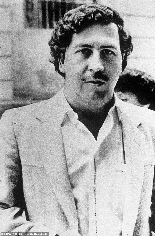 The nephew of drug kingpin Pablo Escobar (pictured) has found a plastic bag with $18million of cash hidden in the wall at one of his uncle's houses.