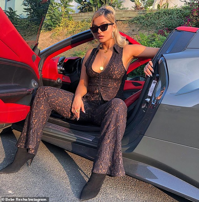 New toy: Last week Bebe debuted her new man and a new Ferrari as she and boyfriend Keyan took the Italian sports car for a spin in Los Angeles to celebrate his birthday