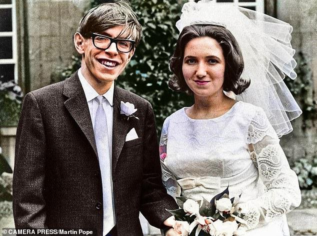 Stephen Hawking marries Jane Wilde, 14th July 1965. Hawking, theoretical physicist achieved global renown