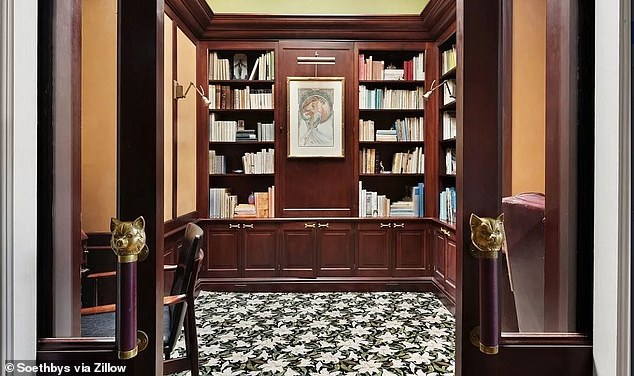Special: The townhouse boasts a stunning library and a private recording studio