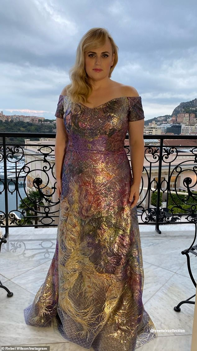 Fabulous: A slimmed-down Rebel Wilson turned heads on Wednesday at Prince Albert's Planetary Health Gala in Monte Carlo, Monaco