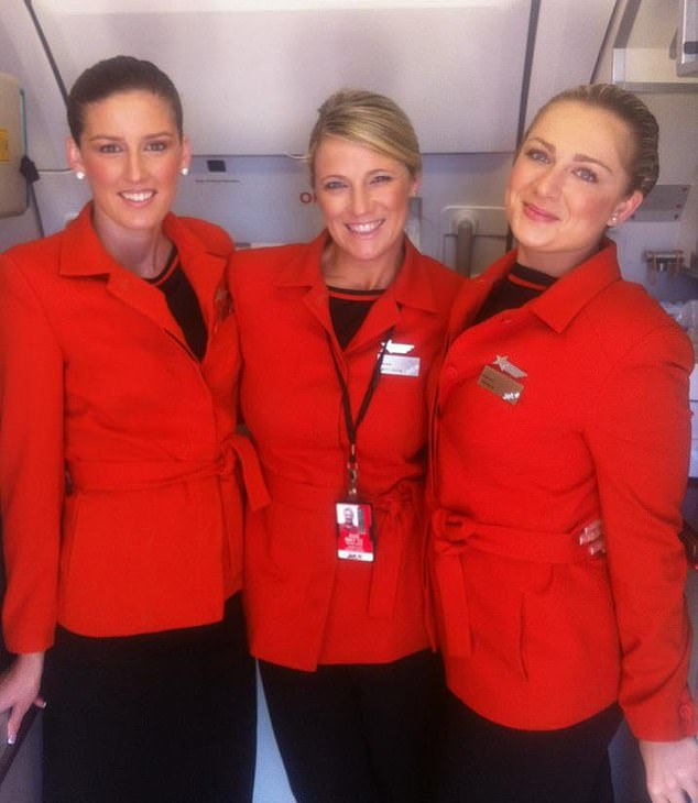 Ms Hamilton (centre) was a model at the time she met Jones, before becoming an air hostess