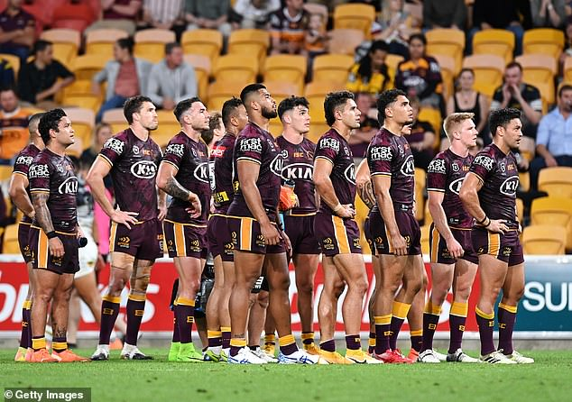 The 32-16 loss, on the back of a hat-trick by North Queensland's Kyle Feldt, put the Broncos on the bottom of the ladder at the close of a season for the first time in the club's 33 year history