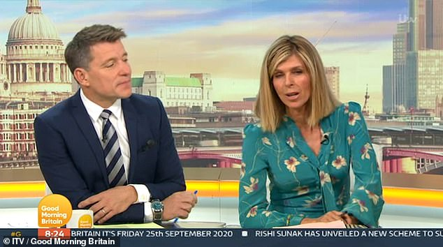 Open: Kate Garraway has said she had a 'tough week' with husband Derek Draper as he continues to recover from his battle with coronavirus in hospital