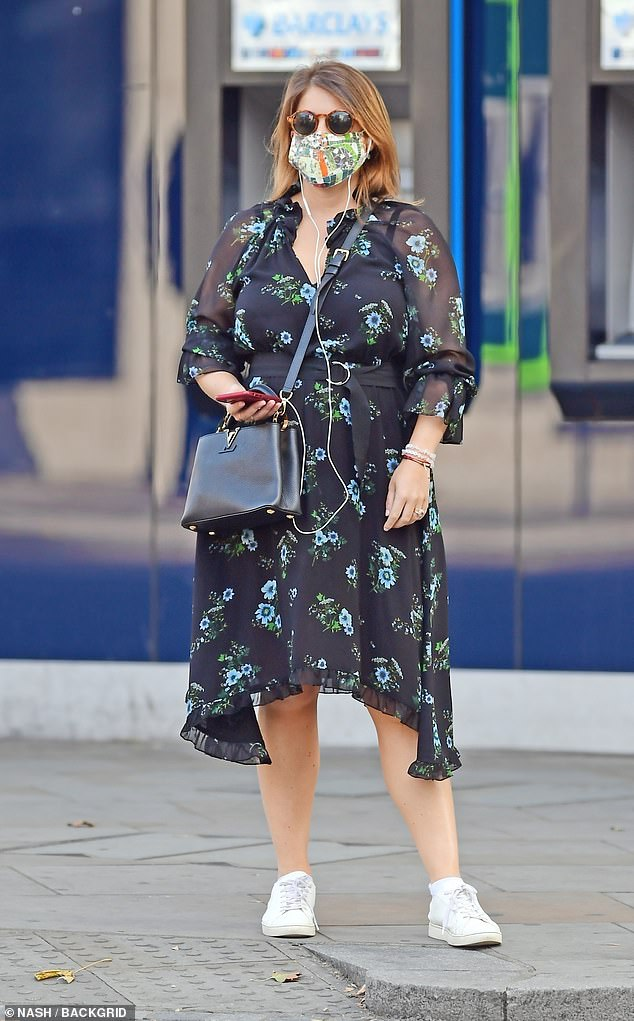The princess wore a protective face mask during her outing on September 18 and accessorised with a pair of sunglasses