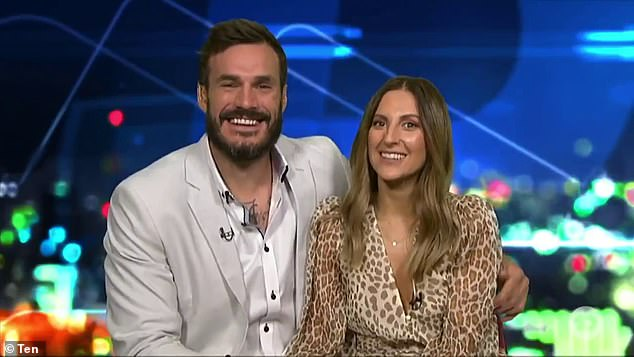 Sweet:Looking very much in love, Irina, 31, and Locky, 30, revealed they are still together, and planning to live together in the same city. 'The plan is that I'm moving over to Perth,' a smiling Irena revealed to the show's hosts