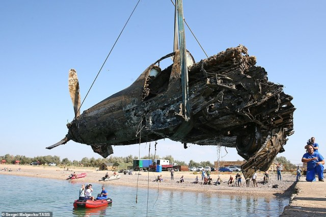 The plane was discovered by amateur scuba diver Alexey Kazarinov in 2017 at a depth of six metres below the water surface and 800 meters from the coastline