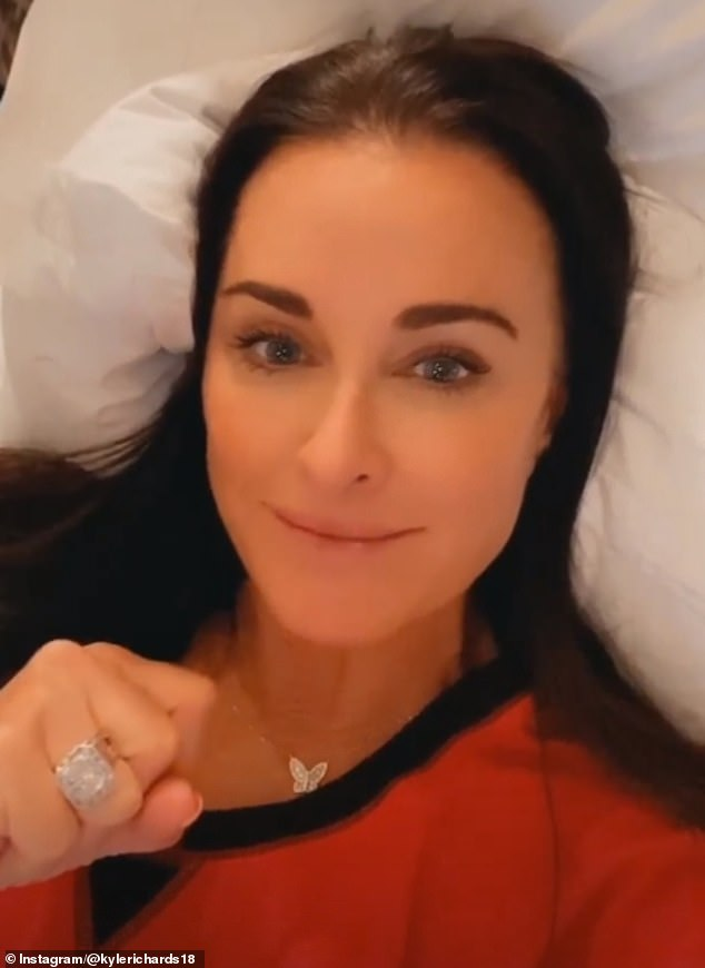Mystery: Kyle Richards posted an Instagram Stories video on Thursday night in which she addressed a bizarre story about spotting her stolen ring in a photo of a psychic's hand