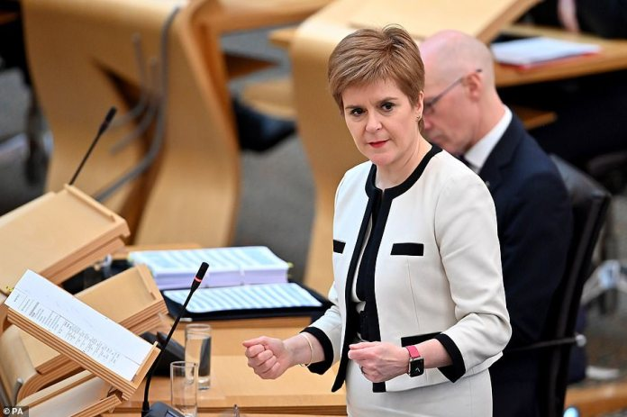 Nicola Sturgeon (pictured) has backed disciplinary action being taken as a 'last resort' against students who breach new rules aimed at curbing the spread of Covid-19 on university campuses