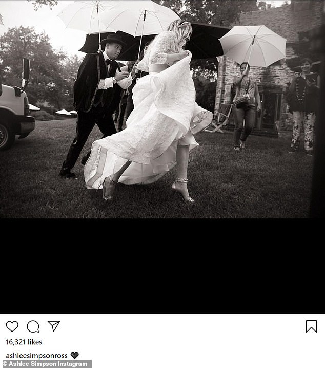 Love: Evan and Ashlee were married on August 31st, 2014, and she recently celebrated their sixth anniversary with a trio of beautiful wedding snaps on her Instagram page