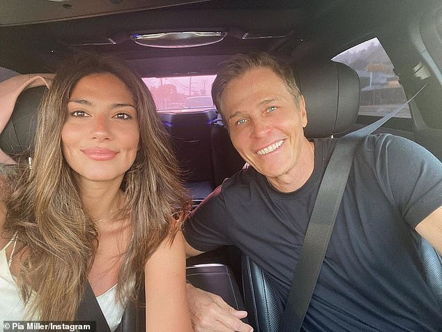 Together again! The photo shoot comes after Pia was reunited with her multi-millionaire agent boyfriend Patrick Whitesell (pictured)