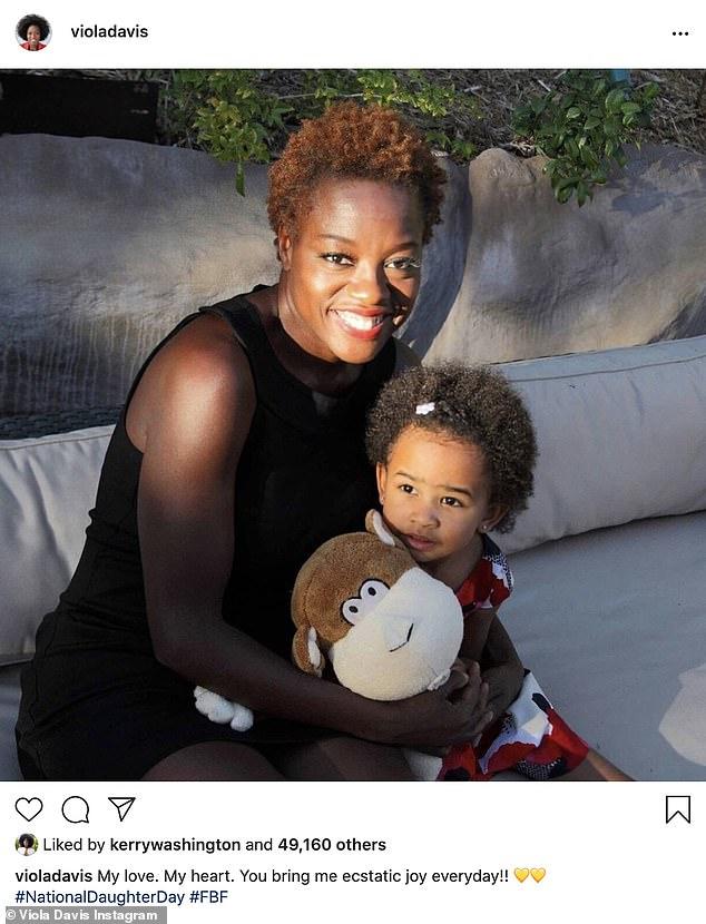 Throwback: Viola Davis, 55, took to Instagram with a throwback of herself hugging daughter Genesis, eight