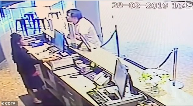 CCTV footage obtained by the Herald Sun showed Mr Zhao check in to a hotel in Melbourne on February 28, 2019 - three days before he was found dead