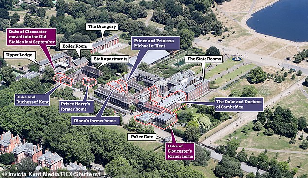 Taxpayers have been billed £1million for the Queen's cousin to move just a few dozen yards at Kensington Palace. He moved to the Old Stables last September