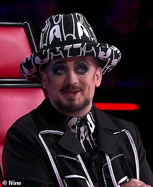 Making changes: Earlier this month, The Daily Telegraph also reported that Channel Seven is 'set to axe coaches Boy George and Kelly Rowland' as part of a cost-cutting measure. Pictured left is Boy George, and right is Kelly Rowland