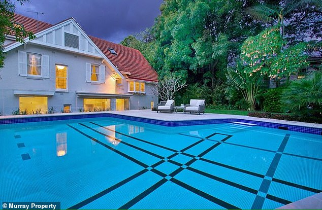 Kyle and Tegan's love shack! The ultra-private home is set on almost 1094sq metres and boasts seven bedrooms, five bathrooms, and a large outdoor swimming pool